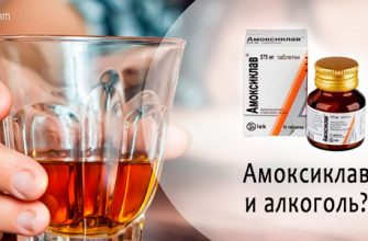Амоксиклав и алкоголь