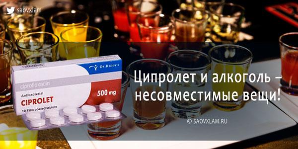 Ципролет и алкоголь