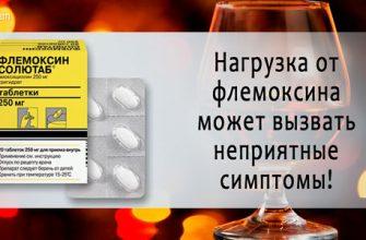 флемоксин и алкоголь