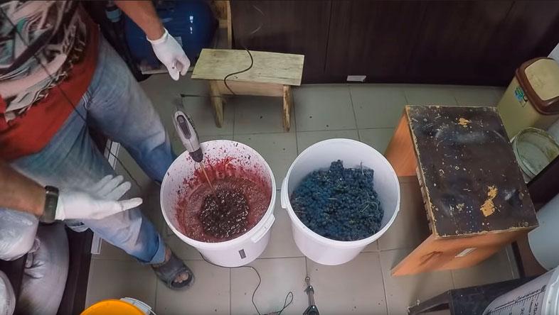 виноградный жмых для чачи